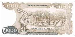 Greece, 1000 drachmas